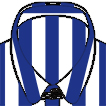 The wrinkle resistant shirt - Tab collar french cuffs blue stripes