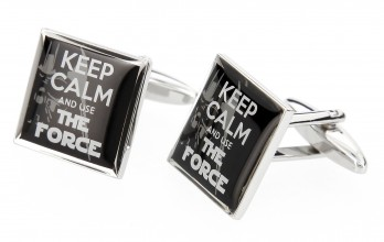 Boutons de manchette Keep Calm and Use The Force