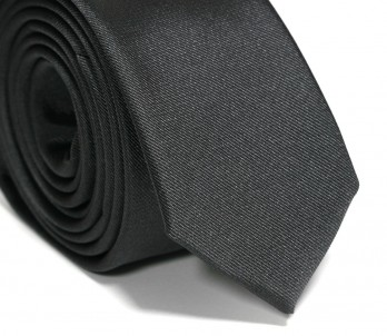 Charcoal-Grey Slim Tie - Sienne