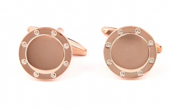 Rose gold cufflinks - Qatar
