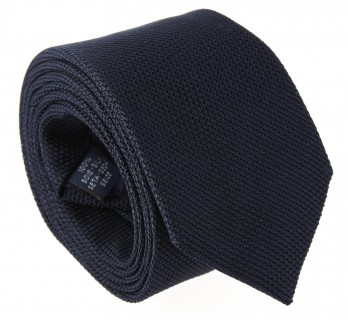 Navy Blue Grenadine Silk The Nines Tie - Grenadines IV