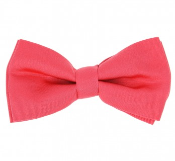 Coral Pink Bow Tie - Tilbury