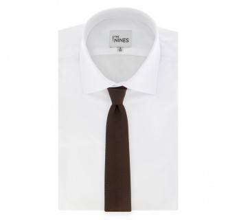 Brown Grenadine Silk The Nines Tie - Grenadines III