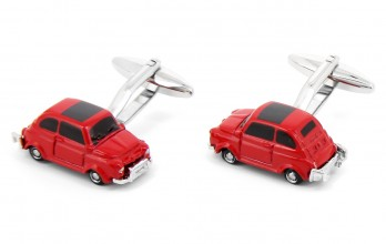 Car cufflinks - 500 Red
