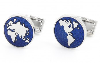 World map cufflinks - Globe Trotter