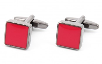 Red square cufflinks - Montreux II