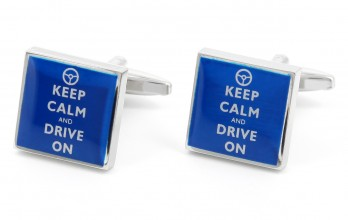 Boutons de manchette Keep Calm and Drive On