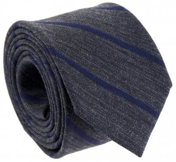 Dark Grey and Navy Blue Striped The Nines Tie