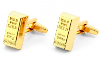 Gold bar cufflinks - Croesus