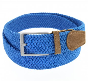 Elastic braided belt in blue - Rob II