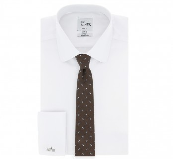 Brown Tie skyblue and blue dots pattern the Nines