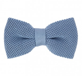Knit Light Blue Bow Tie - Monza