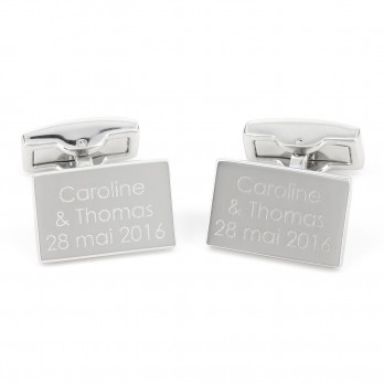 Rectangular engravable cufflinks - Gravure