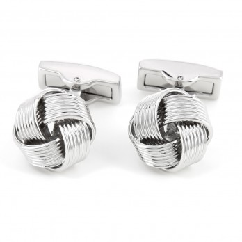 Silver sailors knot cufflinks - Montaigne