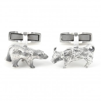 Bull and Bear cufflinks - Bull and Bear