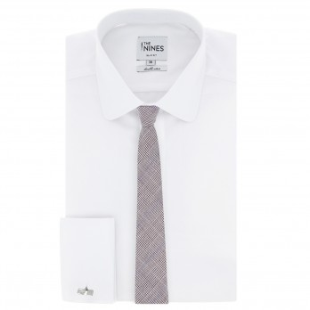 Blue And Braun Prince of Wales tie The Nines