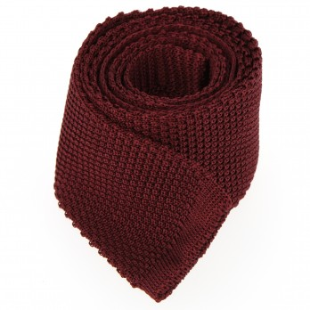 Dark red Knit Tie - Monza