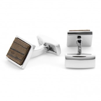 Wood Black Walnut squared cufflinks - Ayos