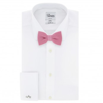 Pink Knitted Silk Bow Tie - Monza