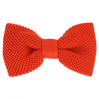 Knit Orange Bow Tie - Monza