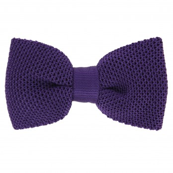 Violet Knitted Silk Bow Tie - Monza