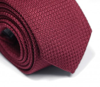Burgundy Grenadine Silk The Nines Tie - Grenadines III