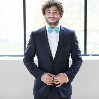 Sea Green Knitted Bow Tie - Monza
