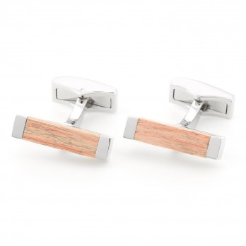 Rectangular cherry tree cufflinks - Deajon
