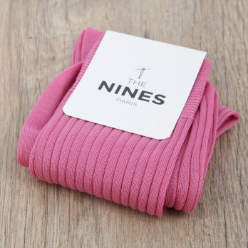 Pink cotton lisle socks