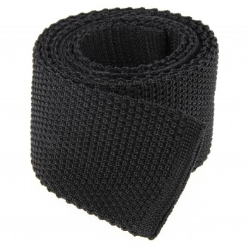 Cravate tricot gris anthracite - Monza