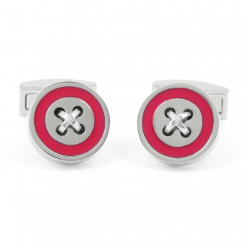 Fuchsia cufflinks - Baltimore