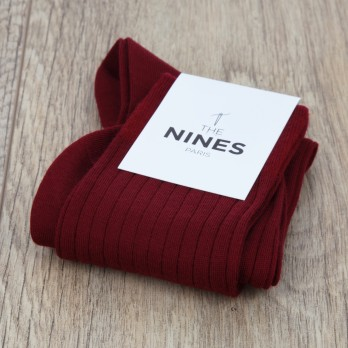 Carmine red new wool socks