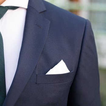 White pocket square in cotton - Saint Raphaël