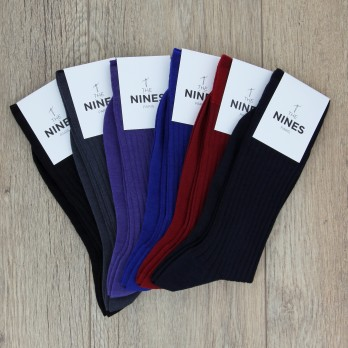 Pack of 6 pairs of wool socks, classical colours