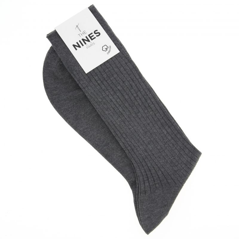 Grey organic Giza cotton socks