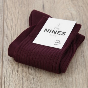 Burgandy organic Giza cotton socks