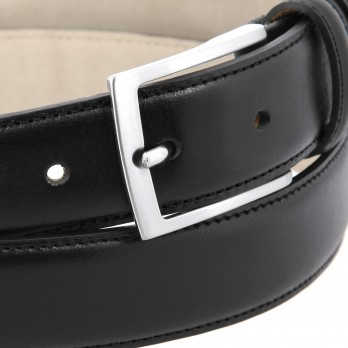 Black leather belt - Ugo