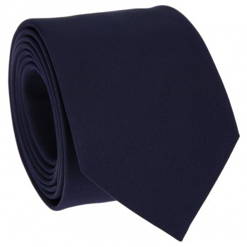 Cravate slim en satin bleu nuit - Monte Carlo