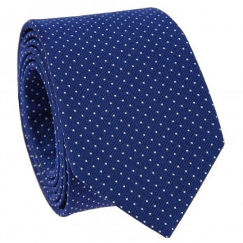 Blue Tie with White Dots in Silk - Washington DC