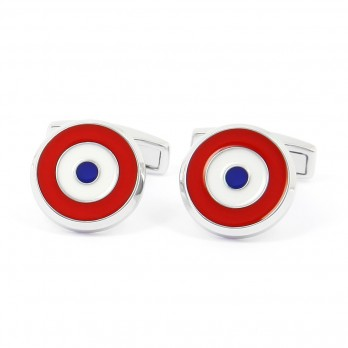 French Cockade sertling silver cufflinks