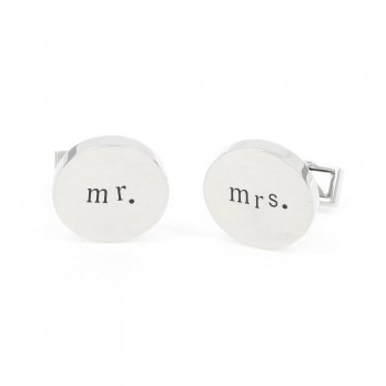 Wedding cufflinks - Mr. & Mrs.
