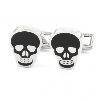 Black skull cufflinks - Mexico
