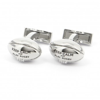 Keep Calm and Play Rugby Cufflinks