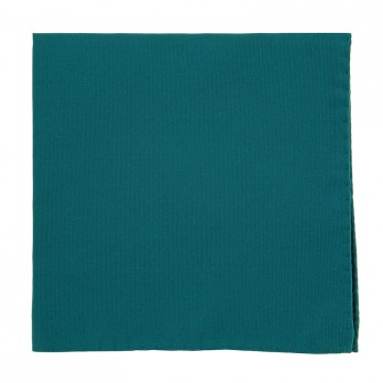 Petrol Blue Pocket Square in Silk