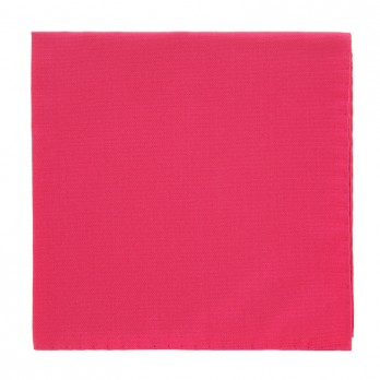 Fuchsia Pink Pocket Square in Silk
