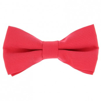 Coral Pink Bow Tie in Silk