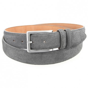 Grey suede leather belt - Lino