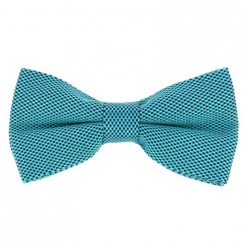 Blue Laggon Bow Tie in Basket Weave Silk