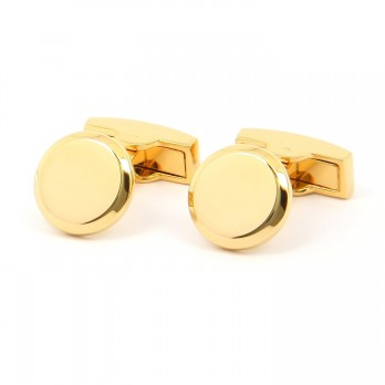 Gold round cufflinks - Montevideo