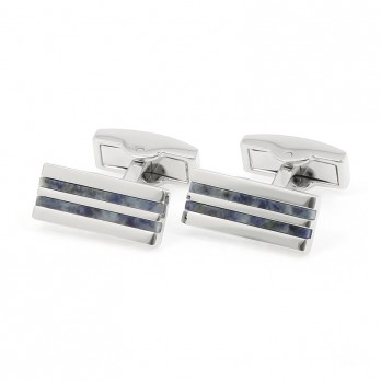 Sodalite cufflinks - Manhattan